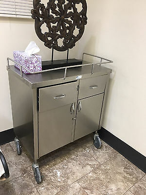 Blickman Stainless steel medical cart Great Condition. LOCAL PICKUP ONLY.