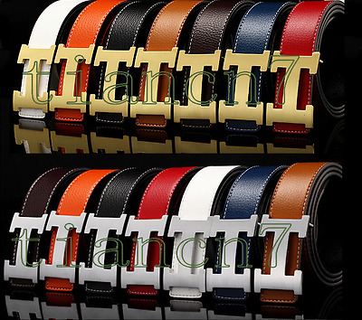 NWE fashion Genuine Leather Metal Buckle Men's/Woman Buckle Belt+h ole puncher