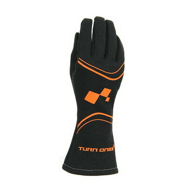 Turn One FIA Approved Gloves - ORANGE/BLACK - RACE RALLY TRACK