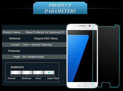 100% Genuine Tempered Glass 9H Screen Protector For Samsung Galaxy S7