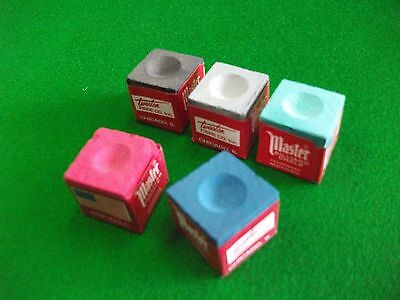 Multi - Colours Masters Snooker/Pool Chalk (5 cubes)