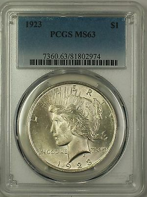1923 Peace Silver Dollar $1 Coin PCGS MS-63 (2g)