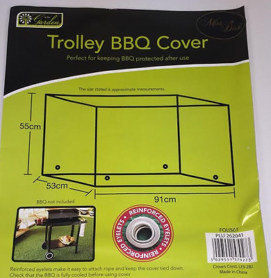 Wagon Trolley Oil Barrel BBQ Barbecue Garden Protection Cover Waterproof
