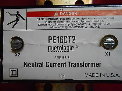 Square D Pe16Ct2 Micrologic Neutral Current Transformer - New Out Of Box