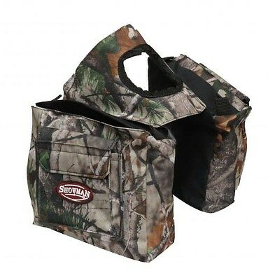 Showman REAL OAK Camouflage Insulated Nylon Saddle Horn Bag!!! NEW HORSE TACK!!!