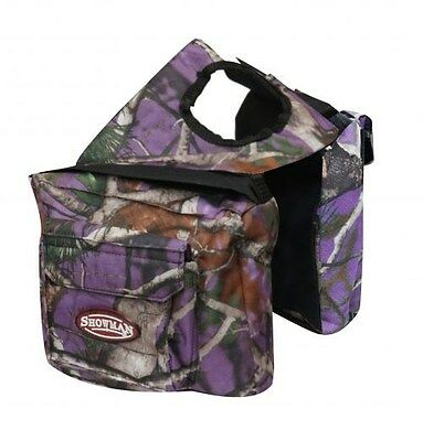 Showman PURPLE REAL OAK Camouflage Insulated Saddle Horn Bag!! NEW HORSE TACK!!!