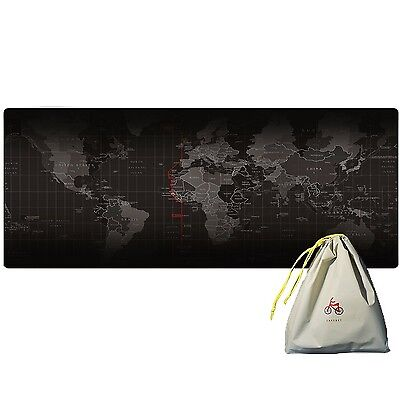 Extended World Map Mousepad eu.insmax XXL Gaming Large Waterproof Mouse M... NEW