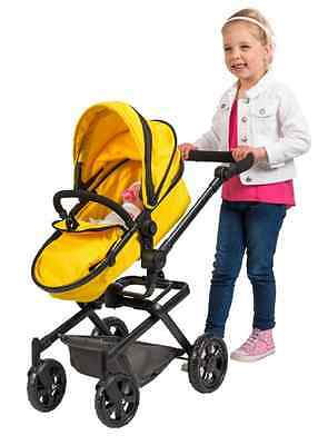 Girls Dolls Pram Carrycot Stroller Dolly Buggy 2 in 1 Baby Dimples Xmas Gift NEW