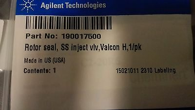 Agilent / Varian Rotor seal for SS injection valve, Valcon H. pn 190017500