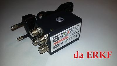 ALIMENTATORE TV PER AMPLIFICATORE ANTENNA 12V 120 mA 3OUT