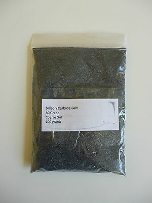 SILICON CARBIDE GRIT (80 GRADE COARSE) – 100g –TUMBLING ROCKS & STONES -LAPIDARY