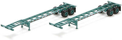 Athearn HO Scale 40' Intermodal Container Trailer Chassis China Shipping (2-Pk)