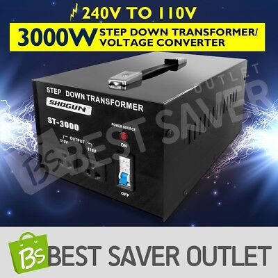 Step Down Transformer & Voltage Converter With Output 2 Plugs 3000W