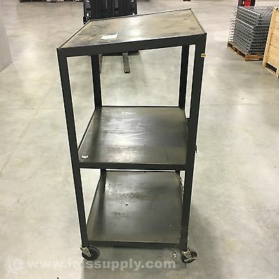 Bretford Black Shop Cart, With Power Receptacles  Usip