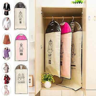 UK Fast**** Breathable Garment Bag Suit Cover Clothes Coat Protector Travel Bag