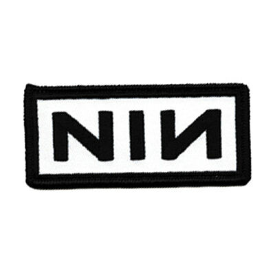Nine Inch Nails Men's Embroidered Patch White