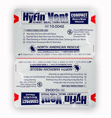 Hyfin Vent Compact Chest Seal Twin Pack (50-0316)