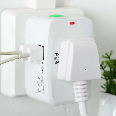 Travel Power USB Charger Universal Adapter AU/UK/US/EU All in One International~