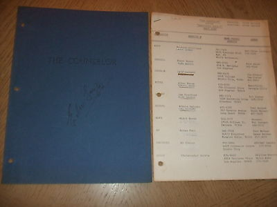 RARE 1974 The Counselor Cast List Peter Traynor AKA Summer Killer SIGNED FOY III