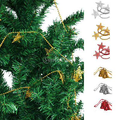 christmas festival star bell xmas tree decorations ball chain hanging string - Christmas Chain Decorations
