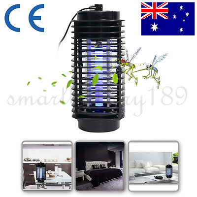 New Black 220V Electric Mosquito Fly Bug Insect Zapper Killer With Trap Lamp AU