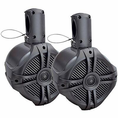 "Power Acoustik MWT-65T 500 Watt Marine Titanium 6.5"" Wake Tower Speakers 6-1/2"""