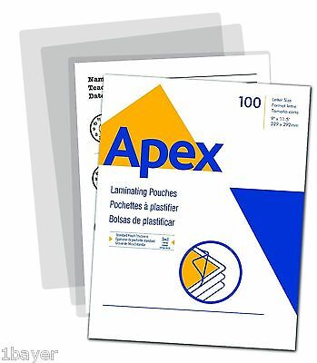 Apex School Office Business Art Photo Laminating Pouch Letter Size 3ml (100pk)