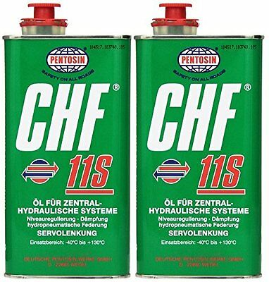 Pentosin CHF 11S Synthetic Hydraulic Fluid 1 Liter 2 Pack Fast SHIPPING!
