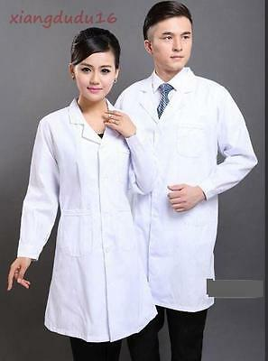 Hot sale! Men's/Women's Professional White Lab Mediacl Doctor's Long Coat New #