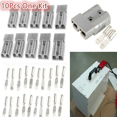 10PCS/Set Battery Quick Connector 50A 6AWG Plug Connect Disconnect Winch Trailer
