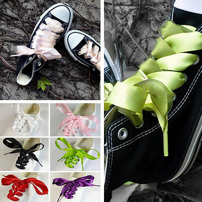 70/120cm 20mm Shoelaces Fashion Shoe Laces Flat Shoestring Made Of Silk Ribbon S