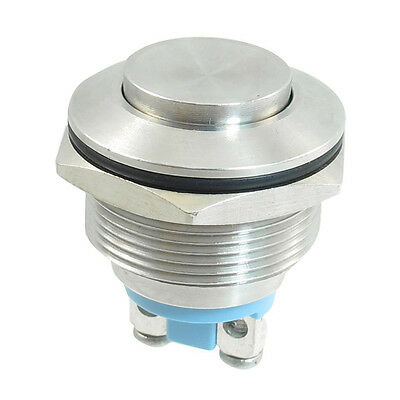 W6 Stainless Steel Momentary Push Button Switch 22mm Flush Mount SPST ON/OFF