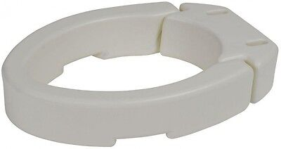 Elevated Raised Toilet Seat Riser White Elongated Hinged Safety Bathroom No Arms