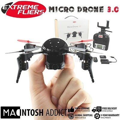 Extreme Fliers Micro Drone 3.0 Combo Pack | 720p HD Video Camera FPV Viewer
