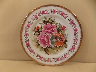 Decorative Plate with Pink Roses