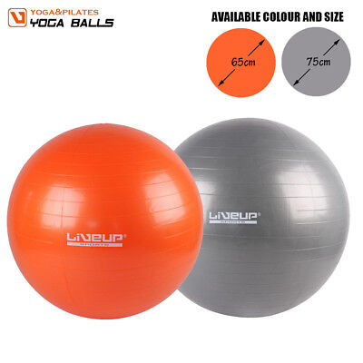 LiveUp Fitness Swiss Ball Home Yoga Gym Exercises Pilates Work Out 65 75 CM