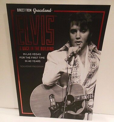 """Elvis Is Back In The Building"" Direct from Graceland Souvenir Program NEW"