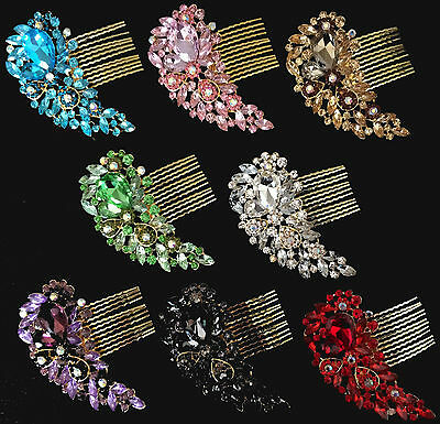 Bridal Hair Comb Wedding Combs Diamante Crystal Vintage Slide Clip Tiara Gc01