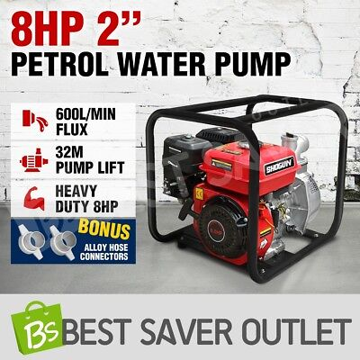"8HP 2"" Petrol Water Transfer Pump Fire Fighting High Pressure Flow Irrigation"