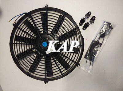 "Universal 14"" inch 12V Reversible Electric Cooling Thermo Fan + Mounting Kit"