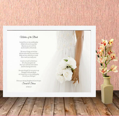 Personalised High Quality Box Frame Print,Wedding,Mother of the Bride,Gift,