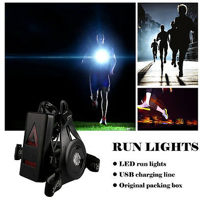 Waterproof LED Night Run Lights Chest Lamp For Outdoor Walking Jogging + USB GH