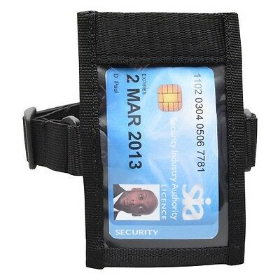 Black Tactical ID Arm Band Holder Security ID Badge Card  Doorman Armband SIA