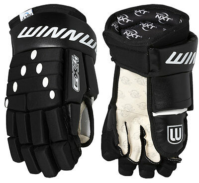 GX4 Quality Ice Hockey Gloves, Black, Play More for Less with Winnwell