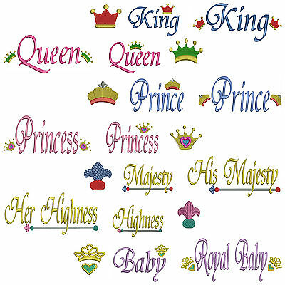 * ROYAL Towel Set * Machine Embroidery Patterns * 21 Designs *