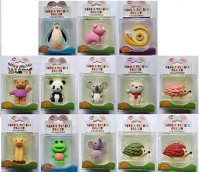 Iwako Japanese Novelty Puzzle Rubber Erasers - Party Bag - Animals in Box