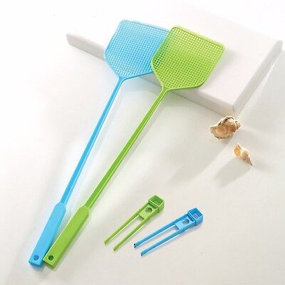 3 X Fly Swatter Racket Bug Mosquito Insect Wasp Moth Killer Catcher Zapper New