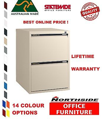 2 Drawer Vertical Standard FilingCabinet Statewide Australian Made-FREE DELIVERY