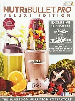 Nutribullet Pro Deluxe Edition 900W 10 Piece Set Blender/Extractor/Juicer UK