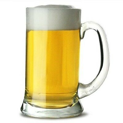German Beer Stein 1 Pint Tankard Glass Beer Mug Masskrug Drink Bar Pub Party